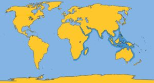 Indo-Pacific Humpback Dolphin Map